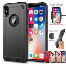 Hybrid Shockproof Heavy Duty Armor Bumper Cover Case For iPhone X 7/8/6S Plus 5