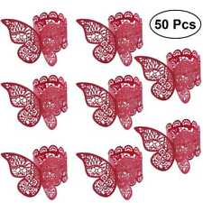 50PCS Butterfly Paper Napkin Ring Holder Bands Wedding Dinner Table Banquet Home