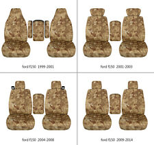 Ford f150 1999-2014 cotton car seat covers terrain camo tan , select  seat style