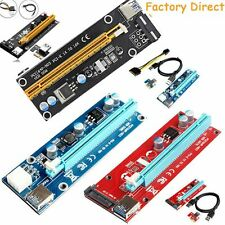 USB3.0 PCIE Express 1x To 16x Extender Riser Card Adapter Power BTC Cable Mining