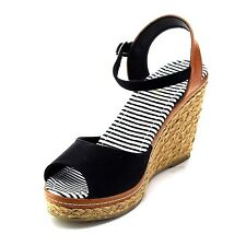 Refresh BYPASS-01 Women's Ankle Strap Slingback Espadrille Wedge Casual Sandals