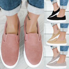 WOMEN CASUAL LOAFERS SHOES LADIES FLAT FLATFORM WEDGE PUMPS PULL ON CANVAS SHOES