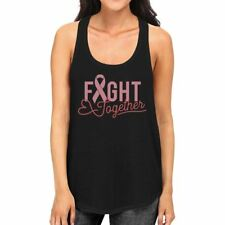 Fight Together Breast Cancer Awareness Womens Black Tank Top