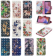 For Xiaomi F1 Redmi 6 6A Leather Magnetic 3D Pattern Wallet Flip Stand Card Case