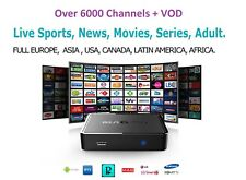 VIP IPTV SUBSCRIPTION 3-12 Months - 6500 + LiveTV + VOD + PPV Glitch Free HD