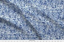 Shibori Indigo Ocean Blue Waves Woodgrain Fabric Printed by Spoonflower BTY