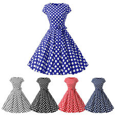 Retro Polka Dots 1950s Dress for Women Pageant Formal Business Cocktail Party