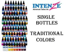 INTENZE Tattoo Ink Traditional Colors and other Single Individual Bottles 2 oz