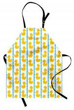 Rubber Duck Apron Baby Blue Stripes Unisex Kitchen Bib with Adjustable Neck