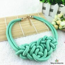Cotton Knitted Necklace Fashion Pendant Women Kolye Choker Collares Jewelry