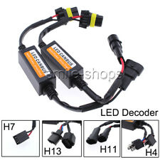 LED Anti Flicker Adapter Error Canceler Canbus Headlight Decoder- H7 H11 H13 H4