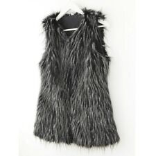 Ladies Faux Fur Waistcoat Vest Body Warmer Jacket Coat Warm Sleeveless Outerwear