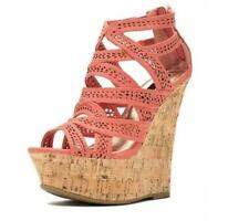 Womens Sandals Shoes Wedge Platform Open Toe Hollow out Zip Suede Roman Occident