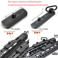 Rail Adapter Attachment Dual Interface For Both Keymod & M-lok Rail Mount System