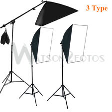 135W Arm Soft box Light Stand Kit Photography Studio Continuous Lighting Softbox
