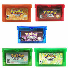 Fan Advance Gameboy Cartridge Game Card For Pokemon NDSL/GBC/GBM/GBA/SP K3G2H