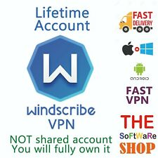 Windscribe VPN -PC,MAC,Android,IOS- Lifetime account 5 Devices -Instant delivery