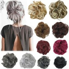 Curly Messy Bun Hair Piece Scrunchie Updo Cover Hair Extensions Real as Human JQ