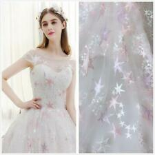 Beautiful Stars Lace Fabric Soft Tulle Lace Fabric For Dress Gowns Bridal Veil