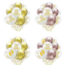 10X Oh Baby Confetti Balloons Baby Shower Gender Reveal Home Party Balloon Decor