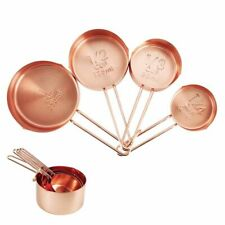 4Pcs Measuring Spoons Stainless Steel Measuring Cup Set Rose Gold Kitchen Scal