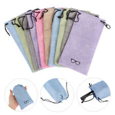 Fabric Optical Glasses Case Lanyard Cloth Bags Eyeglasses Pouch Sunglasses Bag