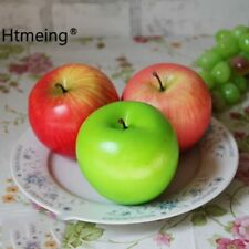 Lifelike Artificial Apple Faux Fake Apples Fruit Home House Kitchen Cabinet