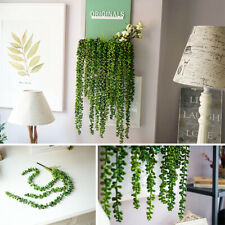 Artificial Hanging Plant Fake Succulent String of Pearls Wedding Home Decor Top