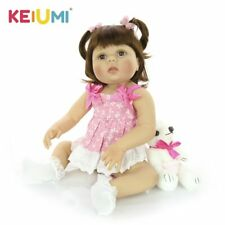 Realistic Reborn Baby Dolls Silicone Vinyl Realistic Girl Doll for Children