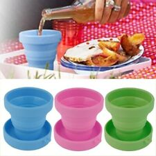 Telescopic Portable Silicone Drinking Collapsible Folding Cup Travel Camping Cup