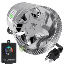 """4"""" 6"""" 8"""" Inch Duct Booster Inline Blower Fan Blower Exhaust Ducting Cooling Vent"""
