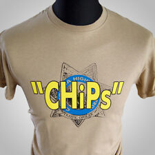 ChiPs Retro TV Series T Shirt Jon Ponch Vintage Cult Classic Hipster Cool 80's