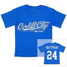 CARDIFF CITY Football Personalised Baby/Child T-Shirt
