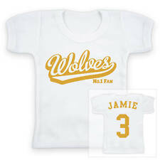 WOLVES Football Personalised Baby/Child T-Shirt