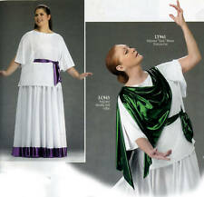 White Liturgical Praise Dance Grecian Tunic Blouse 961