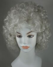 Short Light Blond Wig w/Soft Curls and Bangs - Misty