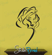 Vinyl Wall Decal Sticker Sexy Girl Hair Style (S)