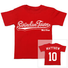 SWINDON TOWN Football Personalised Baby/Child T-Shirt