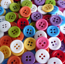 50pcs Mixed Bulk Plastic Sewing Button Lots 11mm Craft Sewing Cards Embellish