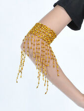 New One Pair Belly Dance Arm Bracelet wt elastic Tassel Bracelet 2 colors