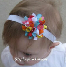 CUPCAKE CUTIE M2MG DAINTY KORKER HAIR BOW SOFT HEADBAND