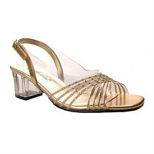 Annie BOBBY II Womens Dress Open Toe Sandal Gold XWIDE