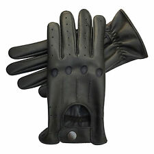 TOP QUALITY SOFT COMFORT PRIME LEATHER MENS CHAUFFEUR DRIVING GLOVES D507