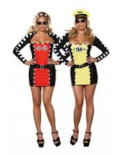 Drive Me Crazy Reversible Sexy Plus Size Adult Costume Flag Girl Race Car Driver