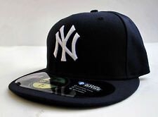 NY Yankees On Field Blue All Sizes Fitted Cap Hat by New Era