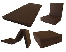Trifold Foam Bed, Tri-fold Chair Beds, Tri Folded Floor Mat 3 x 27 x 75