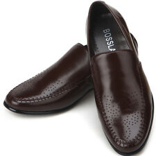 New Sense Comfort Dress Mens Loafers Shoes Brown