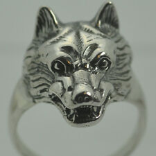 Wolf Werewolf Sterling Silver Ring Gothic Lycan Any SZ