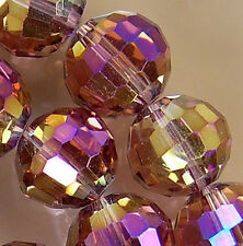 10x12mm Faceted Rainbow AB Crystal Rondelle Beads 36pcs