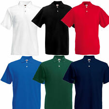 Fruit of the Loom Herren Kurzarm Polo T-Shirt Gr. S - XXL